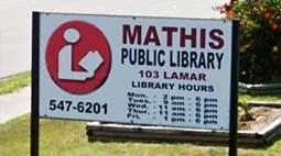 Mathis Public Library Logo